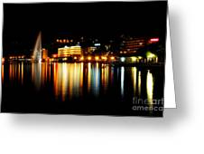 Lake At Night Greeting Card
