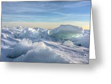 Lake Erie Ice Sunrise Greeting Card