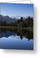 Lake Matheson New Zealand Greeting Card