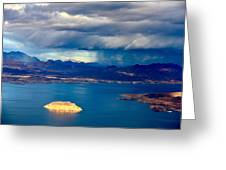 Lake Mead Afternoon Thunderstorm Greeting Card