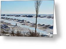 Lake Michigan Ice Greeting Card