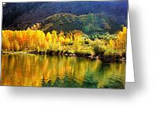 Lake Reflection In Fall  Greeting Card