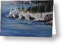 Lake Superior Ice Storm Greeting Card