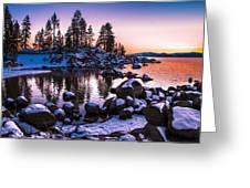 Lake Tahoe Winter Sunset Greeting Card