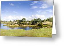 Lake Waratah In North-west Tasmania Australia Greeting Card