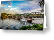 Lambertville From The Shores Of New Hope Greeting Card