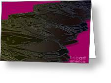 Black Magenta Bull Greeting Card