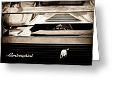 Lamborghini Rear View Emblem Greeting Card