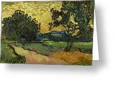 Landscape At Twilight Greeting Card