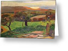 Landscape From Bretagne Greeting Card