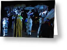 Lantern Parade In Patterson Park Greeting Card