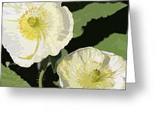 Large White Flowers Abstract Greeting Card