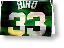 Larry Bird Greeting Card