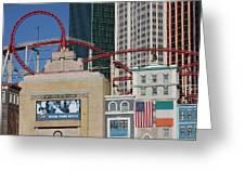 Las Vegas - New York New York Casino - 12128 Greeting Card