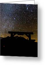 Last Dollar Gate And Milky Way Starry Greeting Card