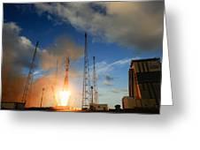 Launch Of Soyuz Vs07 2014 Greeting Card
