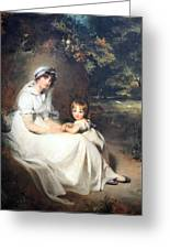 Lawrence's Lady Mary Templetown And Her Eldest Son Greeting Card