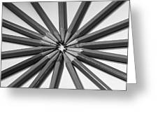 Lead Pencils Isolated On White Greeting Card