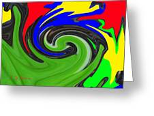 Leaf And Color Abstract Greeting Card
