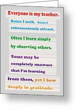 Learning Observation Teacher Student Gratitude Background Designs  And Color Tones N Color Shades Av Greeting Card