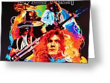 Led Zeppelin Art Greeting Card