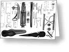 Leeuwenhoek: Microscope Greeting Card
