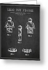 Lego Toy Figure Patent - Dark Greeting Card