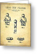 Lego Toy Figure Patent - Vintage Greeting Card