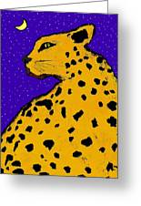 Leopard At Midnight Greeting Card