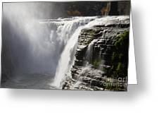 Letchworth High Falls Greeting Card