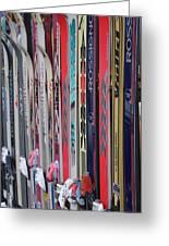 Lets Ski Greeting Card