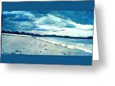 Lido Beach Evening Greeting Card
