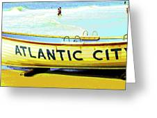 Lifeboat Atlantic City New Jersey Greeting Card