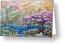 Light Of Spring Greeting Card
