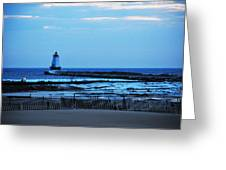 Lighthouse At Dusk Greeting Card