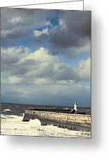 Lighthouse At Whitehaven Greeting Card