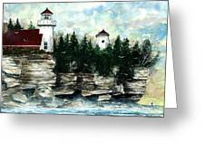 Lighthouse Cliff Greeting Card