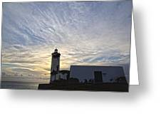 Lighthouse Maria Pia Greeting Card