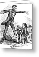 Lincoln Cartoon, 1865 Greeting Card