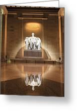 Washington Dc - Lincoln Memorial Greeting Card