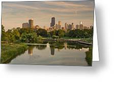 Lincoln Park Lagoon Chicago Greeting Card