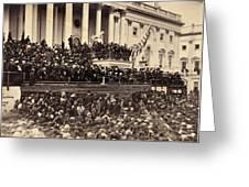 Lincoln's Inauguration, 1865 Greeting Card