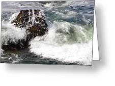 Linda Mar Beach Surf Greeting Card