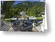 Linderhof And Royal Garden Greeting Card