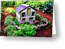 Little Garden Farmhouse Greeting Card