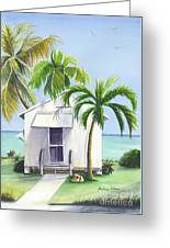 Little House On A Little Island Greeting Card