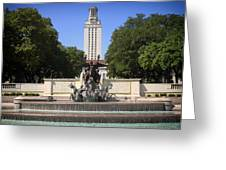 Littlefield Fountain - University Of Texas Greeting Card