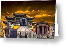 Liverpool Landmarks Montage Greeting Card