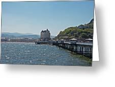Llandudno Pier In Wales Uk On A Bright Sunny Day Greeting Card