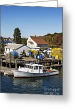 Lobster Boat Greeting Card by John Greim